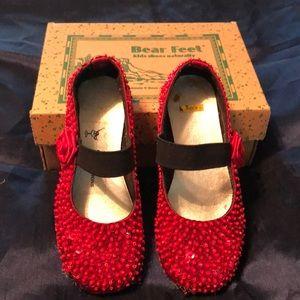 """Girl's """"ruby slippers"""""""